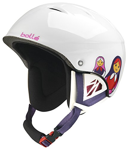 Bolle Juliet Snow Helmets, Shiny White Matriochka, 49-53 cm