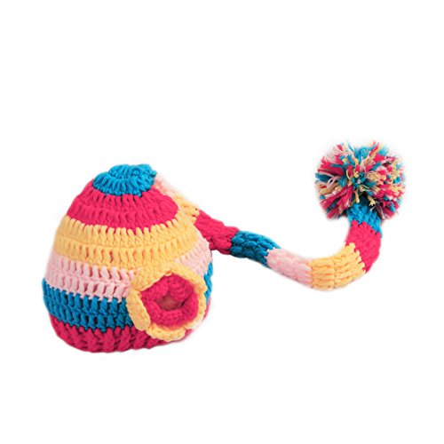 mekingstudio-newborn-baby-photo-prop-long-rainbow-crocheted-knitted-hat-cap-beanie-costume