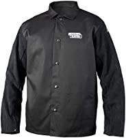 Lincoln Electric Split Leather Sleeved Welding Jacket | Premium Flame Resistant Cotton Body | Black | XL | K31