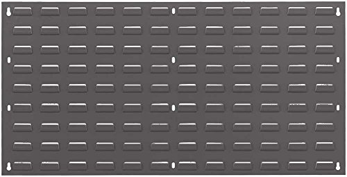 Quantum Storage Louvered Panel - Quantum Storage Systems QLP-3619-GRAY Louvered Panel, Steel, 36