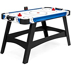 Best Choice Products 54in Large Air Powered Hockey Table for Events, Game Room, Office w/ 2 Pucks, 2 Pushers, Full Panel Leg Supports, LED Score Board