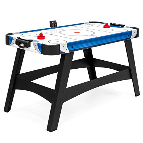 Best Choice Products 54in Large Air Powered Hockey Table for Game Room, Office w/ 2 Pucks, 2 Pushers, LED Score Board