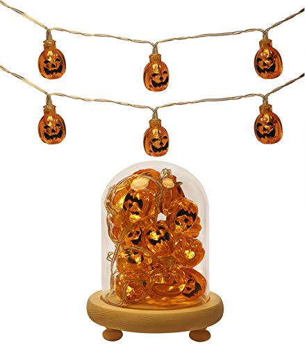 Mini Skater Pumpkin Halloween String Lights Small Battery
