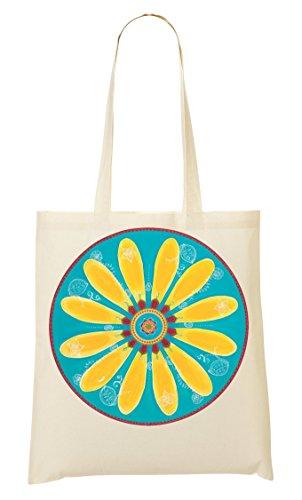 Mandala Bag Borsa Shopping Shopping Mandala Gialla 1wrqF1