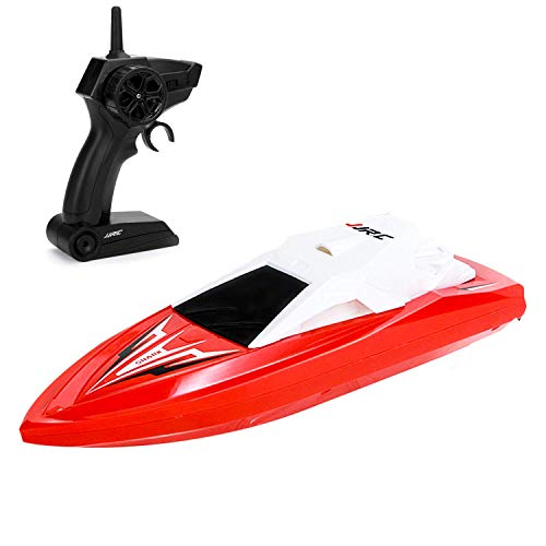 GotechoD RC Boats for Pools and Lakes Remote Control Boats for Kids Adults 2.4Ghz Radio Controlled Boat Self Righting Rechargeable 10km/h High Speed Boat Toys Gifts for Boys Girls Red