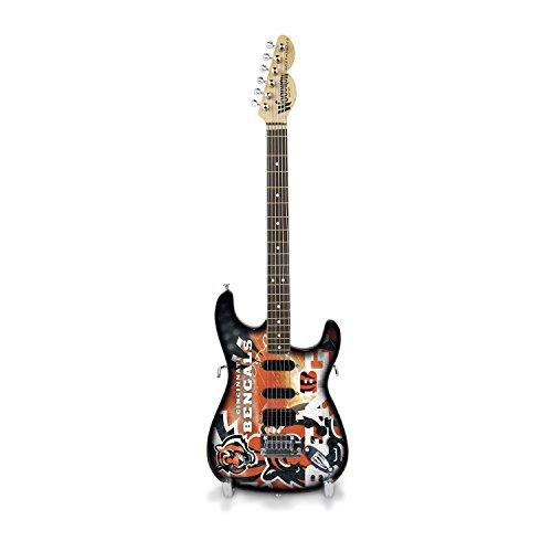 Woodrow Guitar by The Sports Vault NFL Cincinnati Bengals Collectible Mini NorthEnder Guitar
