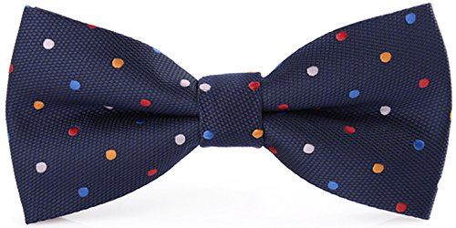 Flairs New York Polka Dots Collection Bow Tie (Midnight Blue / Multicolored [Polka Dots]) (Multi Dots Polka Colored)