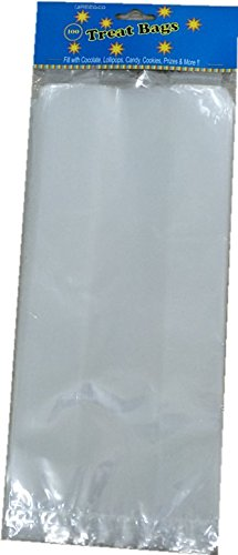 Freedco Treat Bags with Bag Ties, Clear, 100 Piece