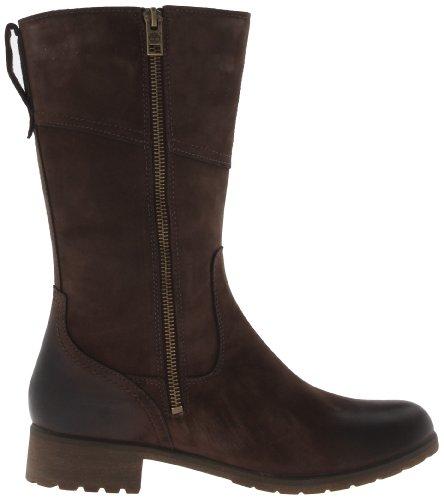 Timberland Putnam FTW_EK Putnam Mid Side Zip WP Boot - Botas clásicas de cuero mujer marrón - Braun (Dark Brown Nubuck)