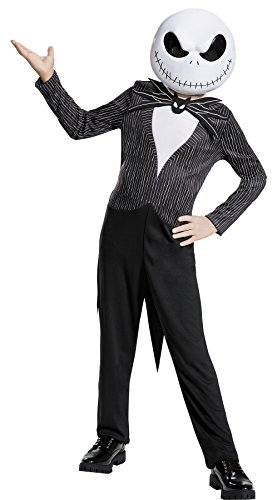 UHC Boy's Jack Skellington Outfit Nightmare Before Christmas Theme Party Costume, M (7-8)