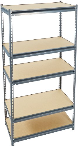 amazoncom edsal ur1836 industrial gray heavy duty steel boltless shelving storage rack 1200 capacity 36 width x 72 height x 18 depth industrial - Heavy Duty Storage Shelves