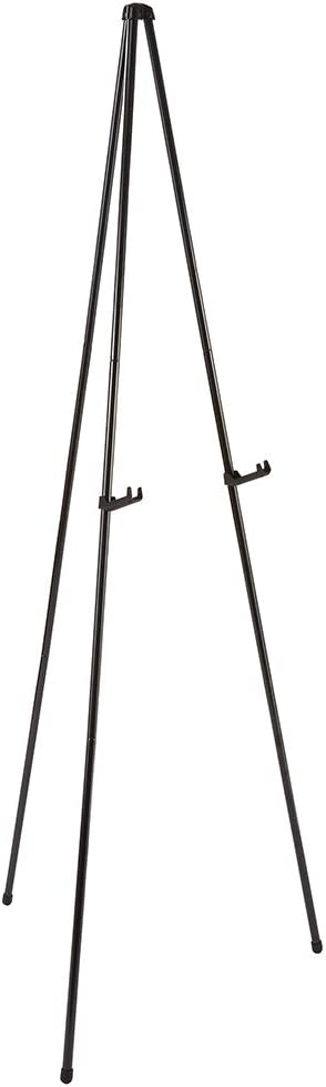 """Quartet Easel, Instant Easel Stand, Heavy-Duty, 64"""", Supports 10 lbs., Tripod Base (27E), Black : Artists Easels : Office Products"""