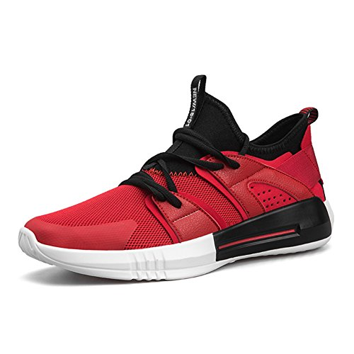 Running Sport Shoes for Men Breathable Mesh Casual Outdoor Sports Shoes Red