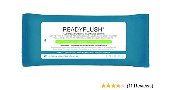 Amazon.com: Medline ReadyFlush, Scented 8 x 12 In Wet Wipes, Case: 24: Health & Personal Care