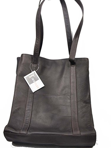 Iris Tyler Brown 10306 Tall Tote Bag With Front Pockets and (Front Pocket Tall Tote Handbag)