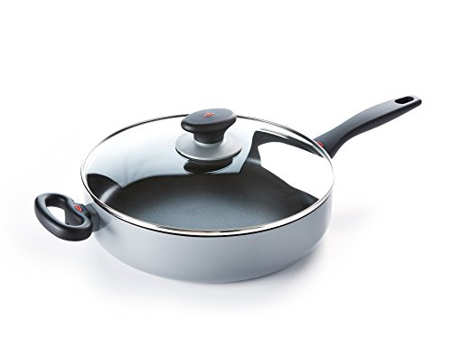 OXO CC000333-001 Softworks Nonstick Soft-Touch 2 Helper Handles/Induction/Dishwasher/OvenSafe Sauté Pan with Lid - 28cm - Black