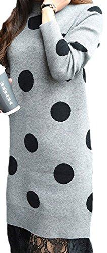 erdbeerloft - Vestido - Camisa - para mujer gris