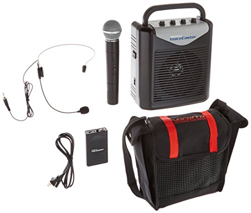 VocoPro VoiceCaster Rechargeable Portable PA System with Wireless Microphone by VocoPro