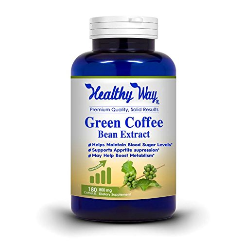 100% Simple Green Coffee Bean Extract 180 Capsules - Mx Strength for Weight Loss, 800mg, Healthy Fat Burner