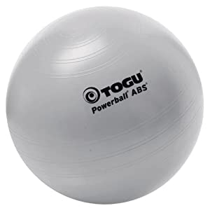 TOGU Gymnastikball Powerball ABS 75 cm Silber