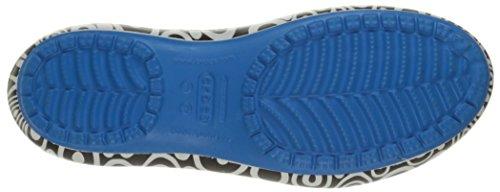 Crocs , Damen Ballerinas Weiß/schwarz/Königsblau