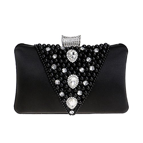 Color QEQE European 4 3 And Bag American Banquet Beaded Evening Bag Women's Ladies Clutch FFxPqnZ6