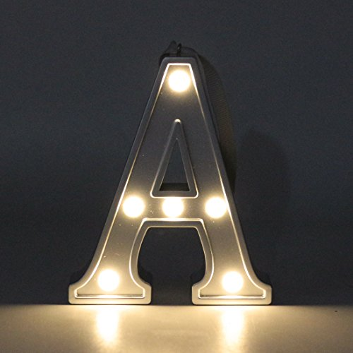 Lamp Alphabet (LED Night Light,Hanging Wall Letters,Alphabet Night Lamp for Kids Room Décor,Night Light Letter A)