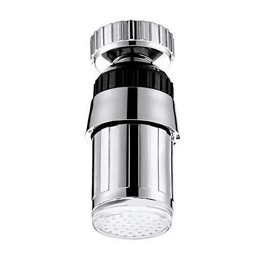 Sttech1 LED Sink Faucet, Sink 7 Color Change Water Glow Water Stream Shower LED Faucet Taps Light for Fun, Useful for Bathroom and Kitchen (Silver)