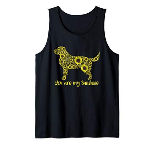 You Are My Sunshine Sunflower Golden Retriever Mom Shirt Tank Top