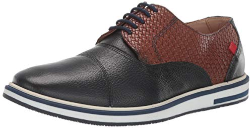 Marc Joseph New York Mens Genuine Leather Made in Brazil Manhattan Oxford, navy brown basket/white sole 7 M US