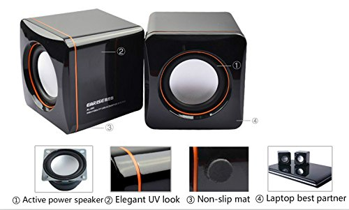 AL-202, High-fidelity USB Acoustics System, Powered by USB, for Laptops and Desktops, Cube Speakers, Gemini Doctor by Gemini Doctor (Image #1)