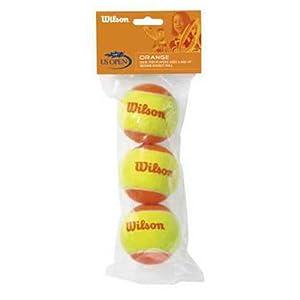 חבילה של שלושה כדורי טניס של חברת WILSON בצבעי אדום וצהוב