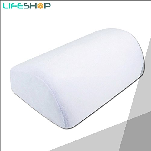 LifeShop Small Lumbar Memory Foam Pillow for Back Support wh