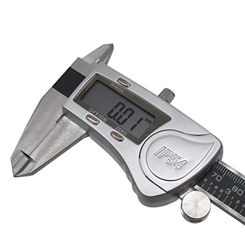 Digital Vernier Caliper IP54 Made of Hardened Stainless Steel Large LCD Screen-6''/150mm-Auto Off Provides Precision Measurement in Inches and Metric Easy to Read and Use by TWIDEC (Image #3)