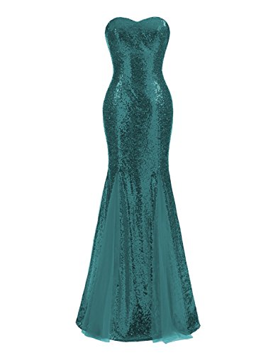 6fc694cd88f7 Home Brands DarlingU DarlingU Women s Sparkle Sequined Mermaid Formal  Evening Dress Wedding Party Gowns Jade 16.   