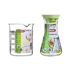 Pyrex Vasos y jarras medidores, 250 ml + 500 ml