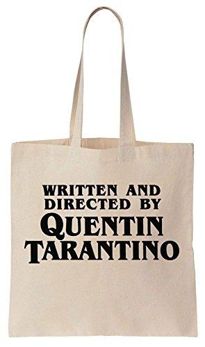Written And Directed By Quentin Tarantino Sacchetto di cotone tela di canapa