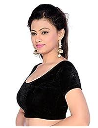 Stylesindia Women's Velvet Stretchable Sari Blouse XL (for Bust Size 32-36 inches)