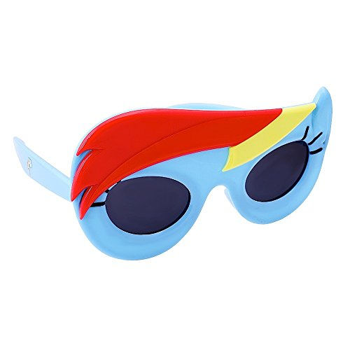 Sun-Staches Costume Sunglasses My Little Pony Lil' Character Rainbow Dash Party Favors UV400]()