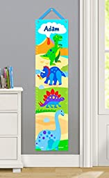 Olive Kids Personalized Dinosaurland Canvas Growth Chart