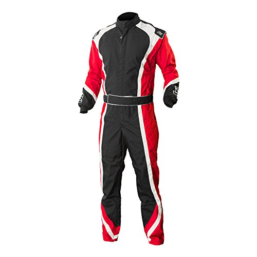 K1 RaceGear 10-APE-R-6XS Red/White/Black Size 6/X-Small Level 2 Apex Karting - Apex Suit