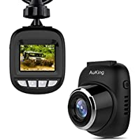 Dash Cam,AuKing S3 Mini Full HD 1080P Car Camera with 168° Wide Angle, G-sensor, Loop Recording, Motion Detection, Park Monitor