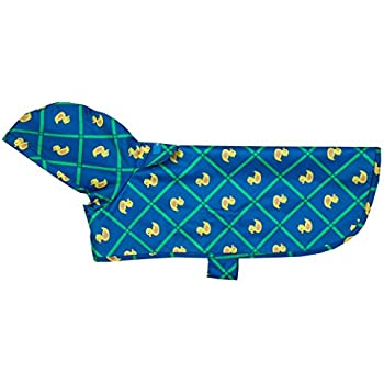 RC Pet Products Packable Dog Rain Poncho, Rubber Ducky, Medium