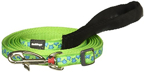 Red Dingo Dog Lead, Lime Green with Blue Stars, (Dingo Green)