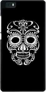 Funda para Huawei Ascend P8 Lite - Cráneo De La Vendimia by wamdesign