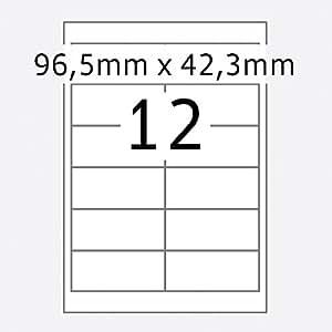 TOP STICK Universal-Etiketten, 96,5 x 42,3 mm, weiß