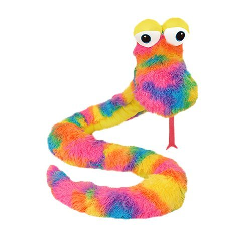 Prism The Greatful Snake 81 in Plush Collectible Toy Yellow Rainbow RetailSource Ltd 6-771//S-Y