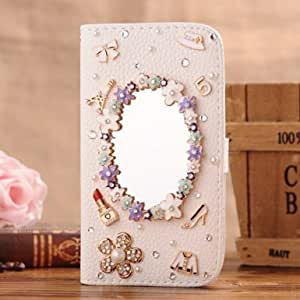 Hot sell! Caselo New Design 3D Bling PU Leather Wallet with Credit Card Slot Flip Diamond Case Cover for Ipod Ttouch 4
