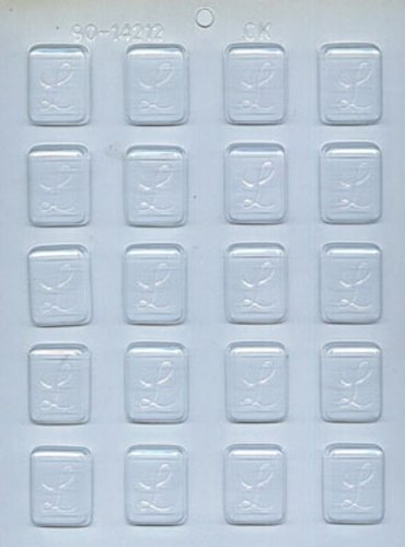 CK Products 1-1/4-Inch L-Initial Mint Chocolate Mold