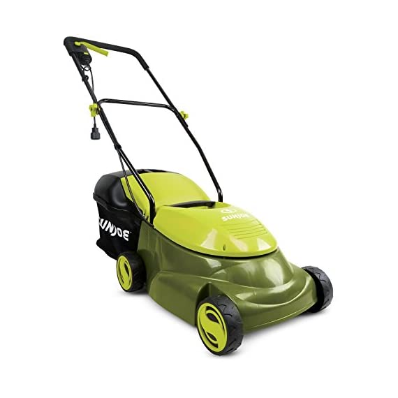 Sun joe mj401e 12 amp electric lawn mower 2 powerful: 13-amp motor cuts a 14-inch wide path adjustable deck: tailor cutting height with 3-position height control steel blades: durable 14-inch steel blade cuts with precision